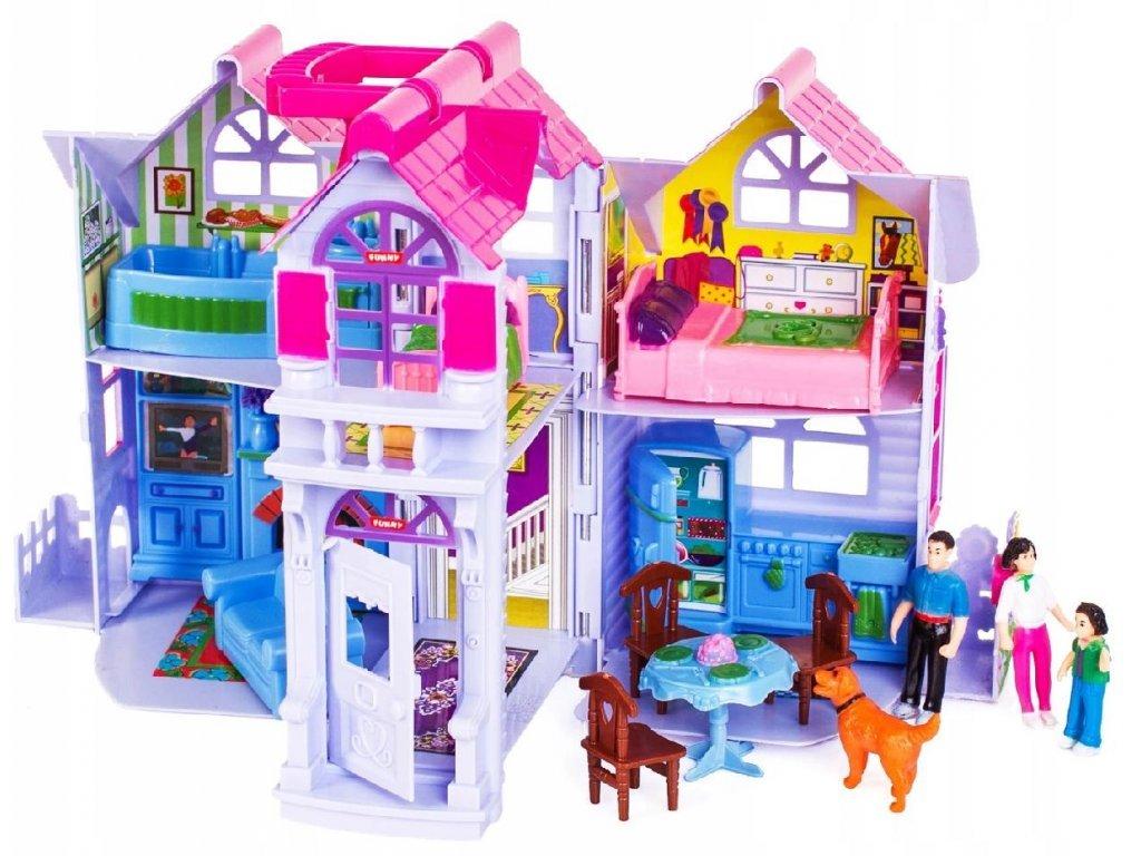Doris přenosný domeček pro panenky s nábytkem Country House