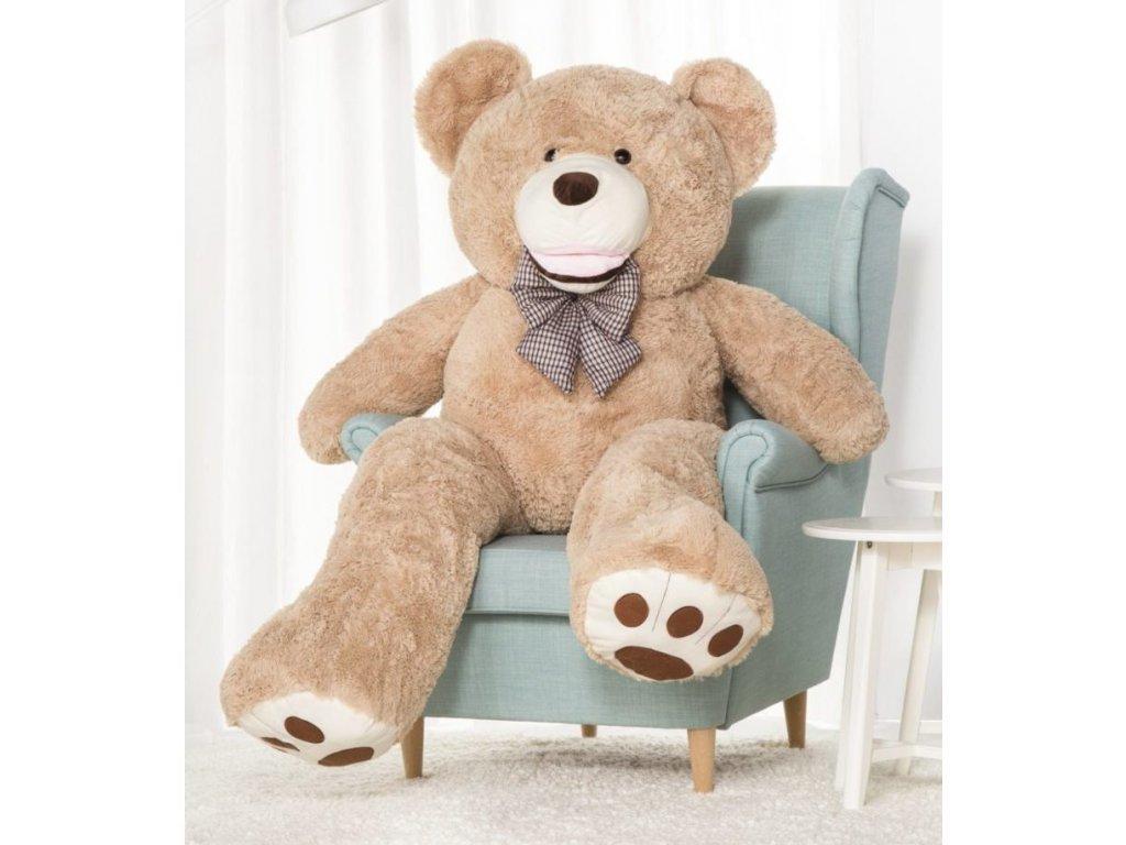 Plyšový medvěd Maty 160 cm béžový
