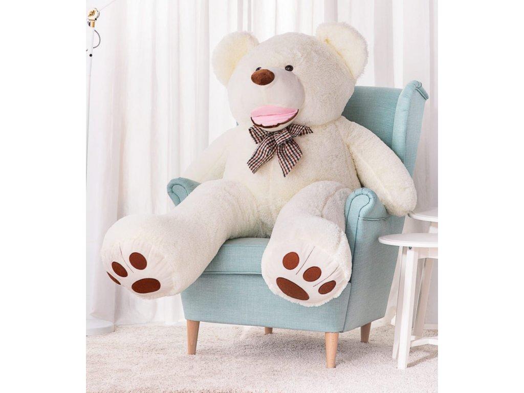 Plyšový medvěd Maty 160 cm bílý