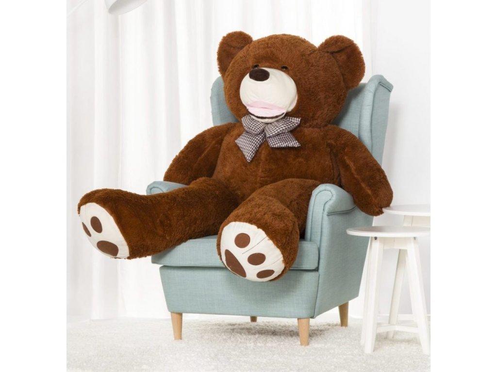 Plyšový medvěd Maty 160 cm hnědý