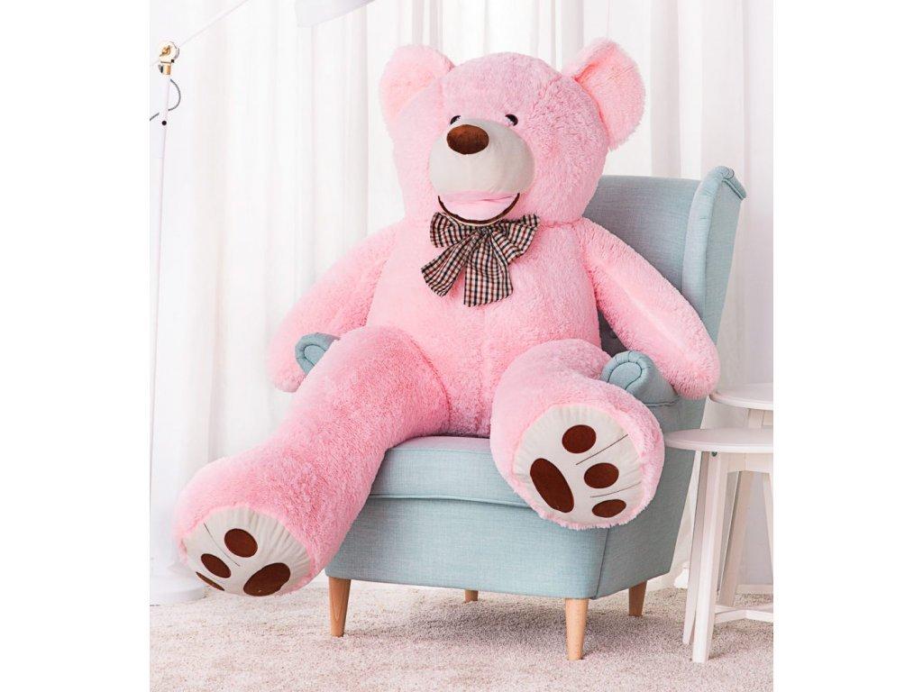 Plyšový medvěd Maty 160 cm růžový