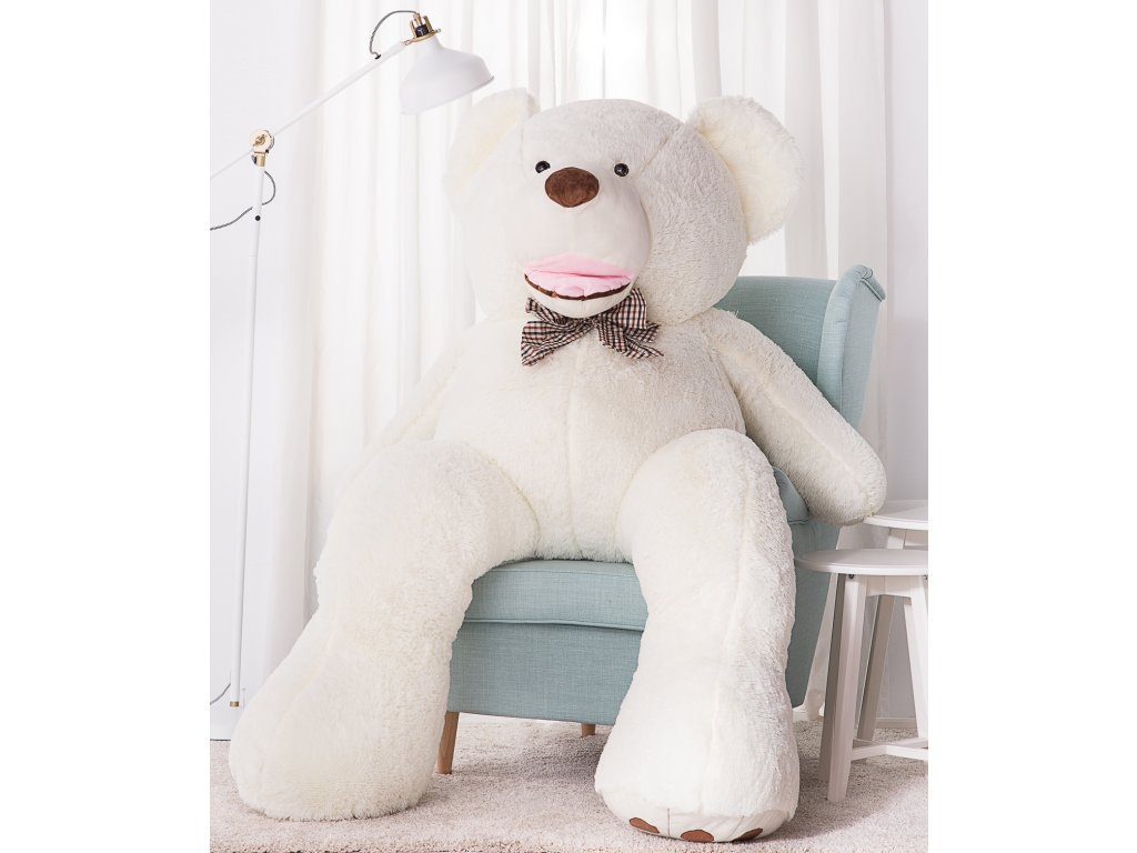 Plyšový medvěd Maty 190 cm XXL bílý
