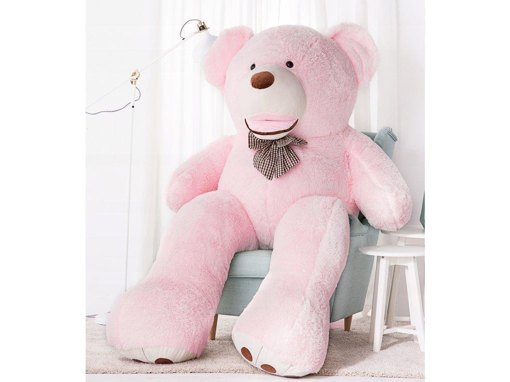 Plyšový medvěd Maty 190 cm XXL růžový