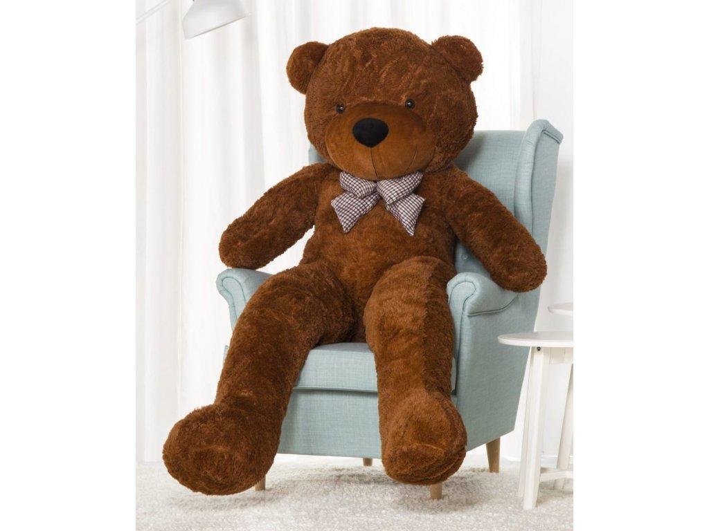 Plyšový medvěd Kvído 190 cm XXL hnědý