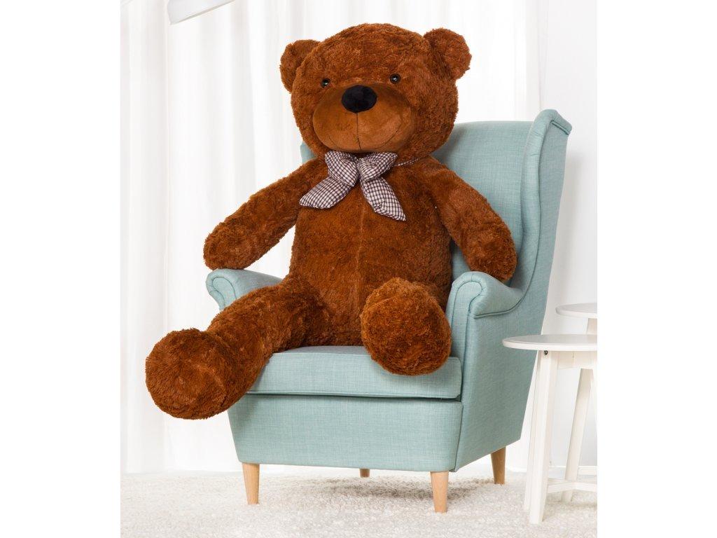 Plyšový medvěd Kvído 160 cm hnědý
