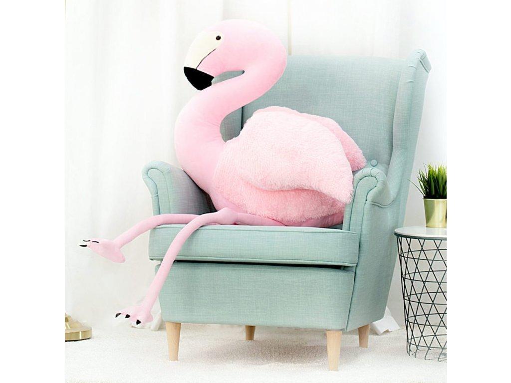 Plyšový plameňák Pinky 150 cm