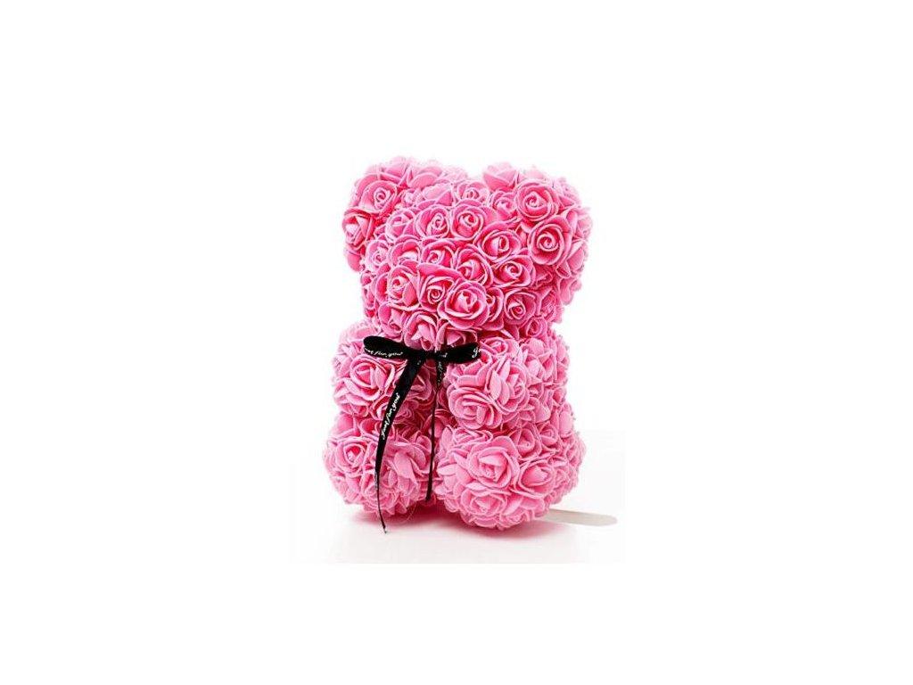 Medvídek z růží růžový Rose Bear 25 cm