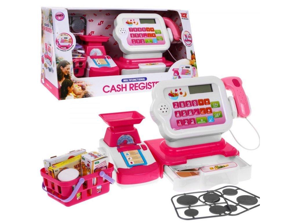 Majlo Toys dětská elektronická pokladna s košíčkem