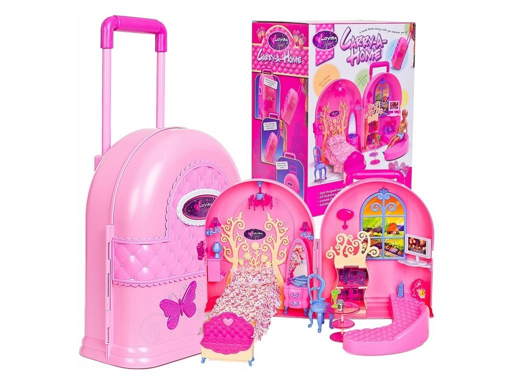 Doris přenosný domeček pro panenky s batůžkem Carry Home