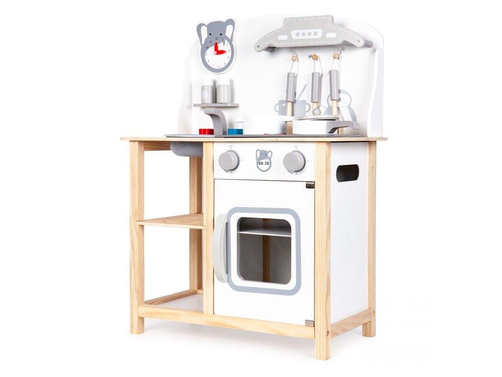 ecotoys detska drevena kuchynka s led efekty