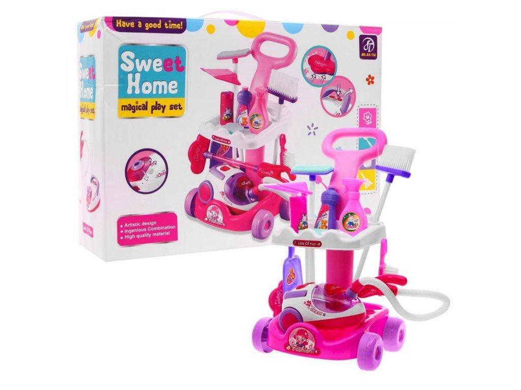 Majlo Toys dětský úklidový vozík s vysavačem Sweet Home