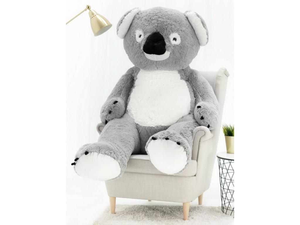 Plyšový medvěd Koala 160 cm šedá
