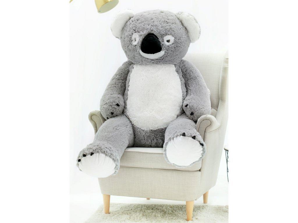 Plyšový medvěd Koala 130 cm šedá