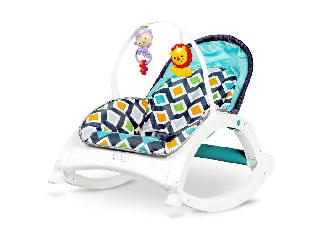 Ecotoys kojenecké lehátko 3v1 s vibracemi a hudbou Animal 8