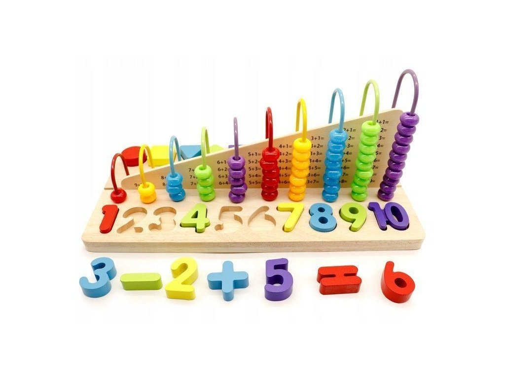 Ecotoys dřevěná edukační hračka Počítadlo