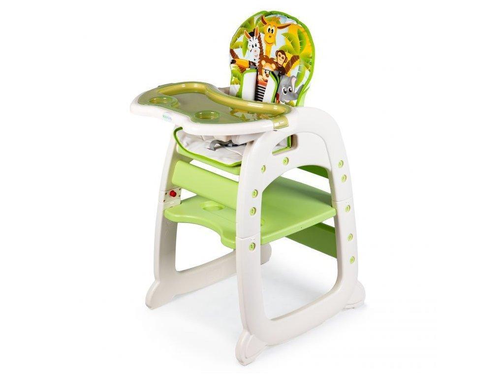 Ecotoys jídelní židlička 2v1 Jungle zelená