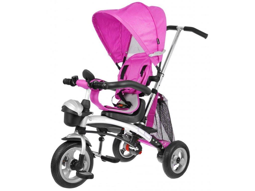 Majlo Toys dětská tříkolka 3v1 Sportrike AIR s nafukovacími koly růžová