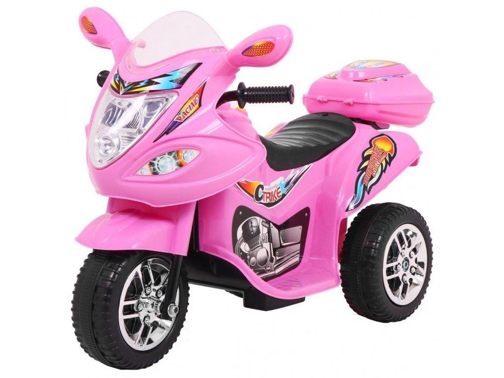 Dětská elektrická tříkolka Racing Pink