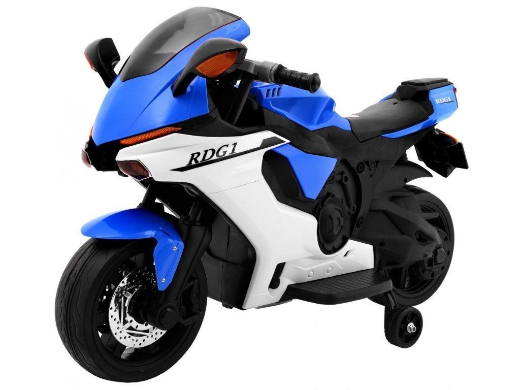 Dětská elektrická motorka Superbike modrá