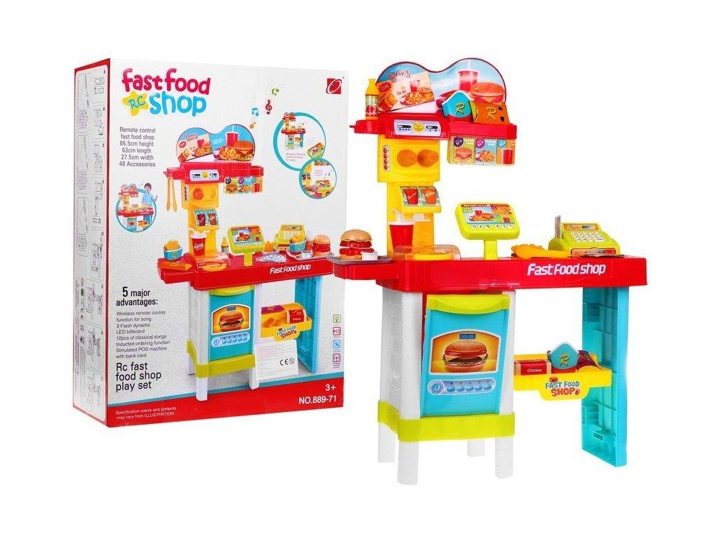 Majlo Toys dětský Fastfood s pokladnou, zvuky a světlem