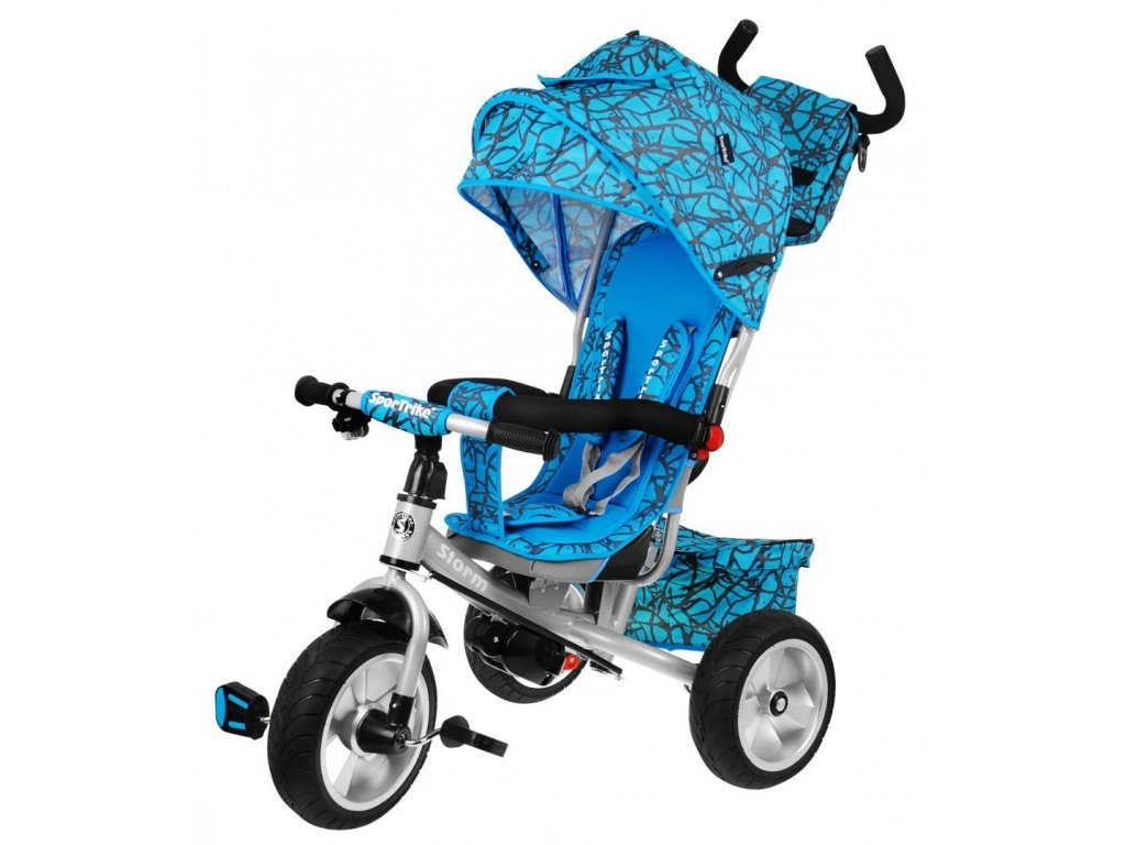 Majlo Toys dětská tříkolka Storm s gumovými koly modrá