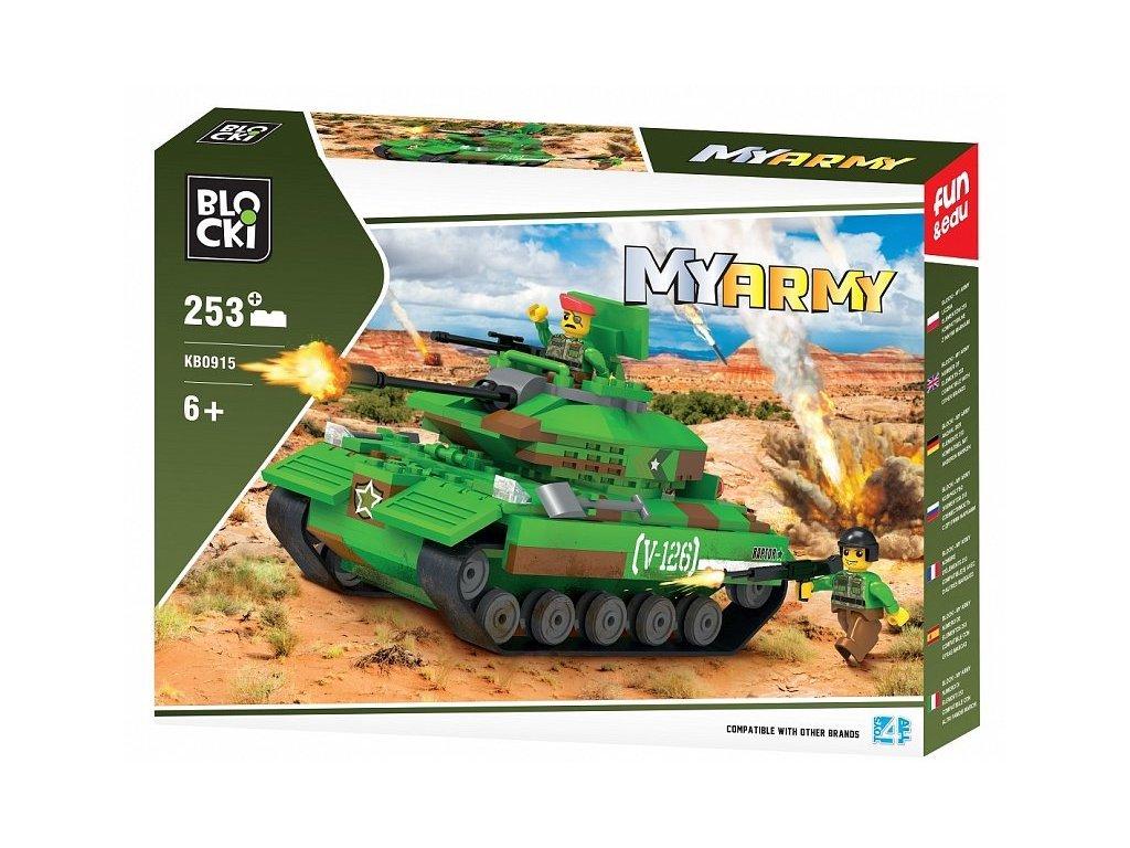 Blocki stavebnice MyArmy tank  na poušti 253 dílků