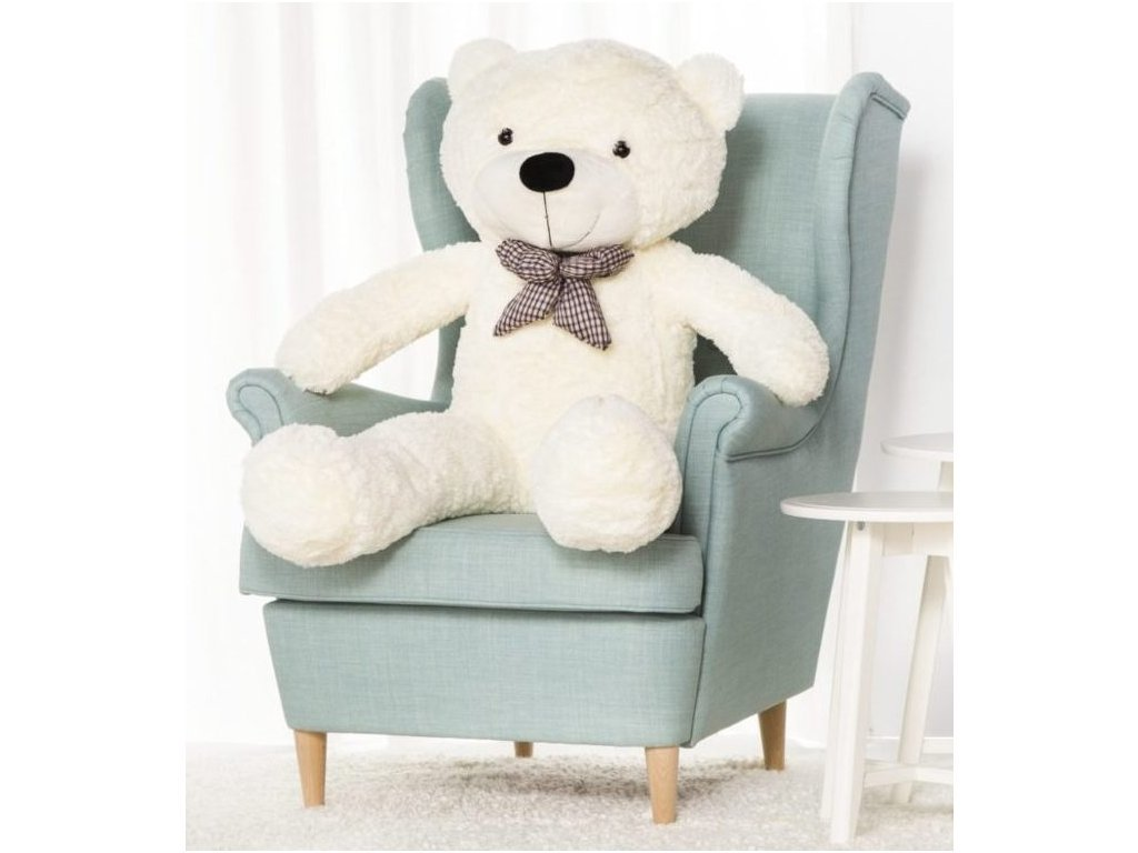 Plyšový medvěd Kvído 130 cm bílý