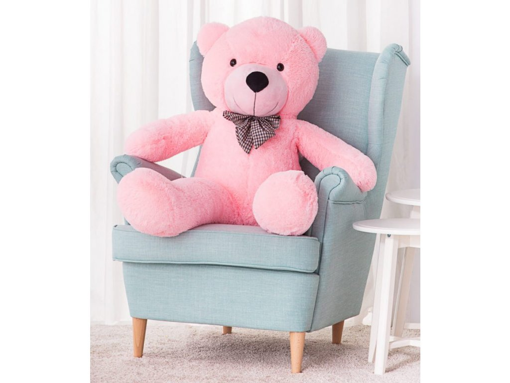Plyšový medvěd Kvído 130 cm růžový