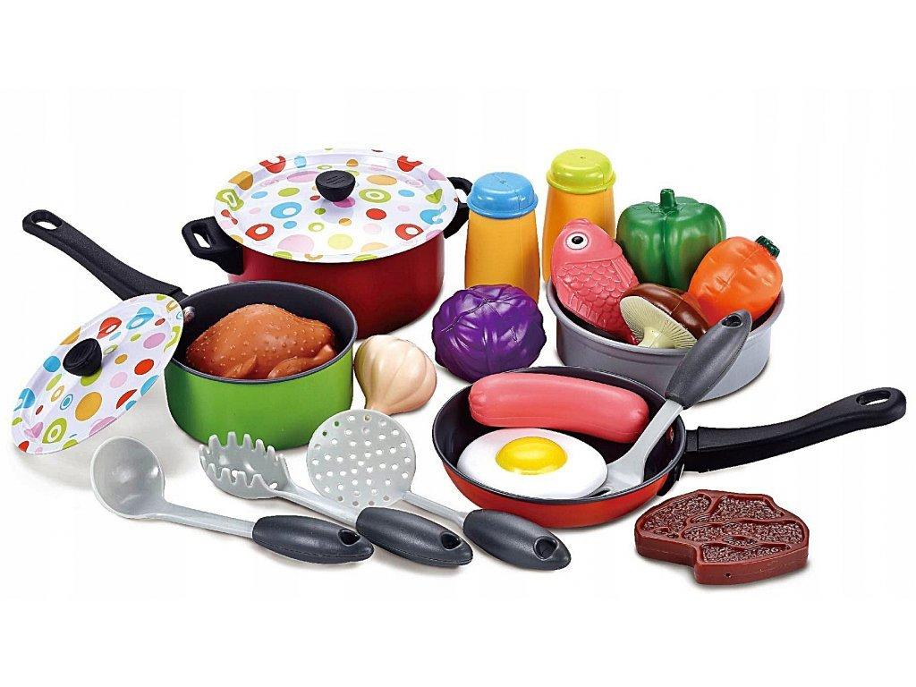 Doris sada kovového nádobí do kuchyňky 22 součástí