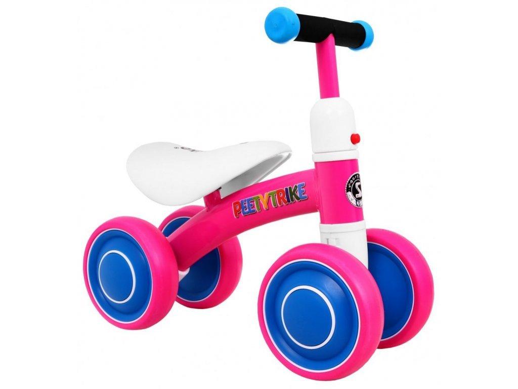 Mini dětské odrážedlo Peety Trike růžové