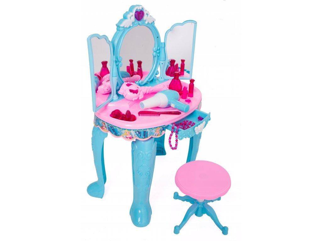 Doris dětský toaletní stoleček Magické zrcadlo modrý