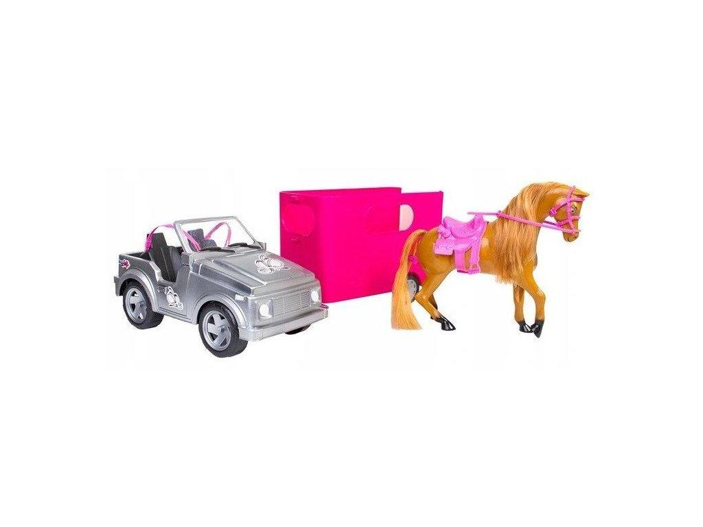 Doris autíčko pro panenku s přívěsem a koníkem Horse Show
