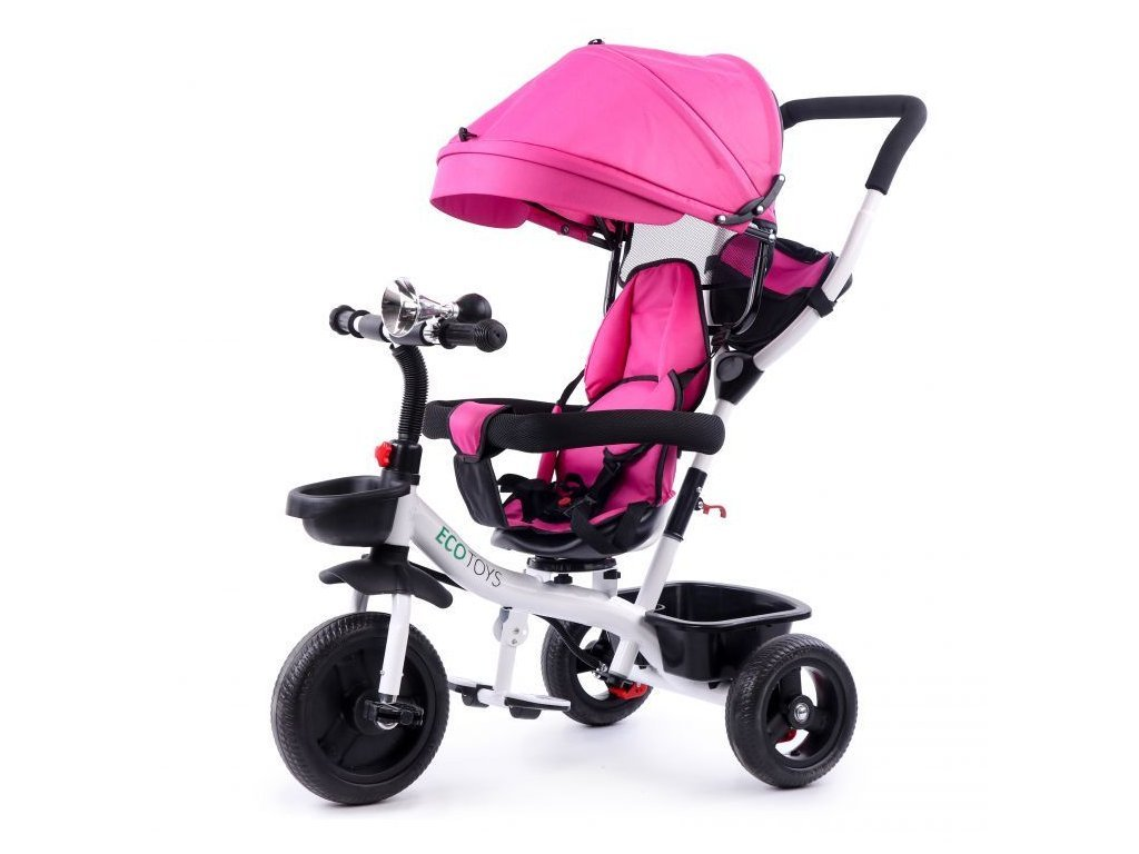 Ecotoys dětská tříkolka s otočným sedadlem S360 růžová