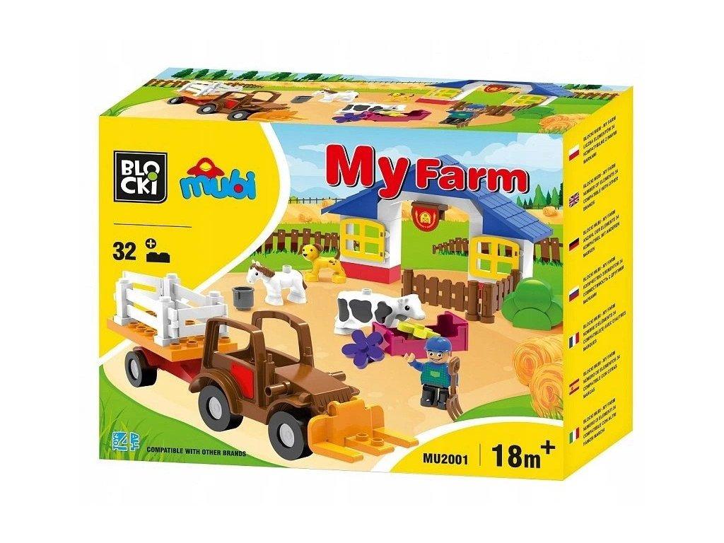 Blocki Mubi Farma s traktorem 32 dilku