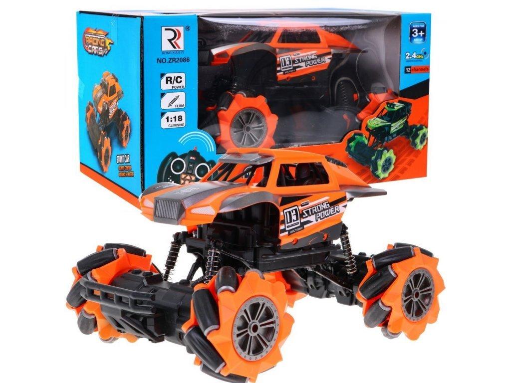 Terénní auto na dálkové ovládání Racing Crawler oranžové 1:18