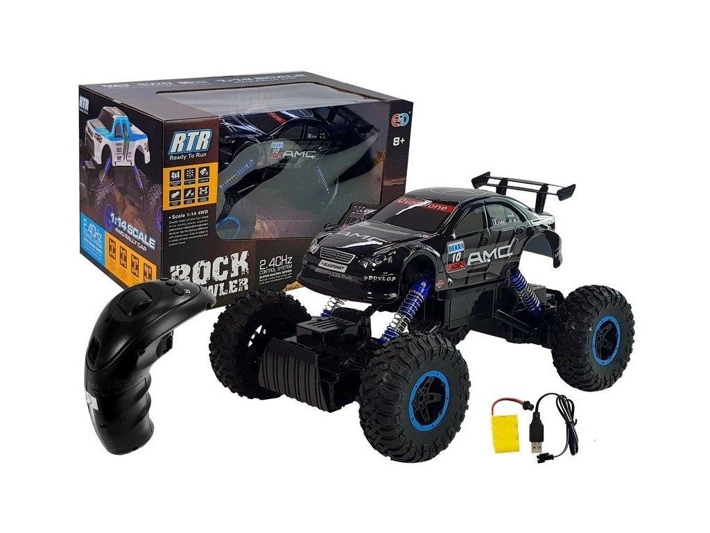 Terénní auto na dálkové ovládání Rock Crowler černé 1:14