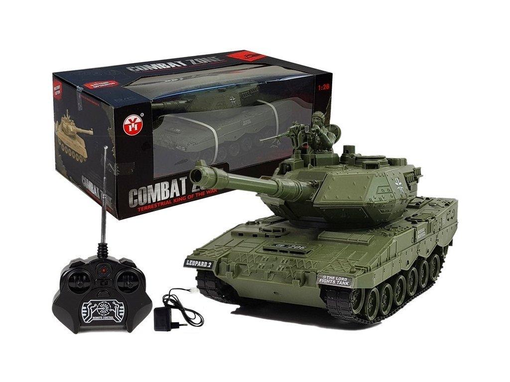 Vojenský tank na dálkové ovládání German Leopard 1:28