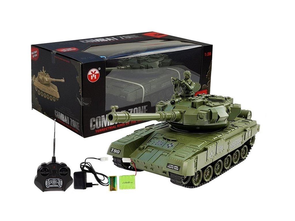 Tank Combat na dalkove ovladani zeleny Russian T90