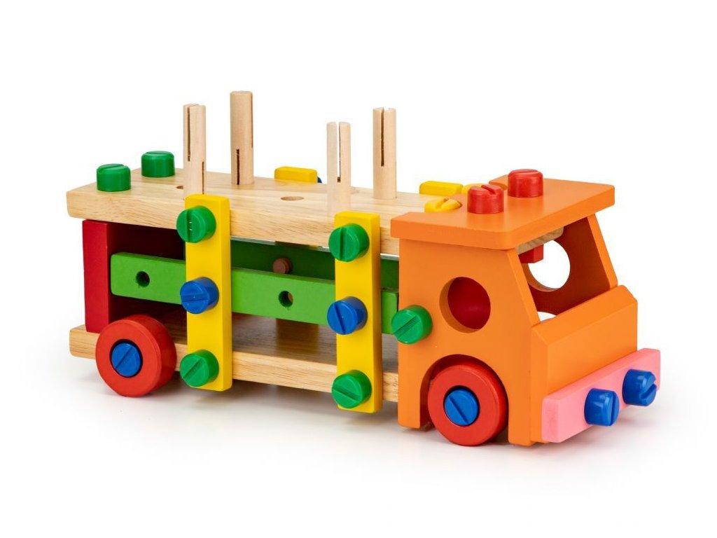 Ecotoys drevene konstrukcni auticko