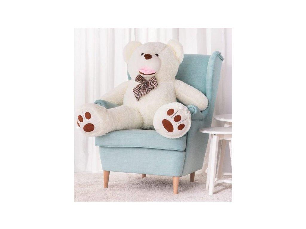 Plyšový medvěd Maty 150 cm bílý