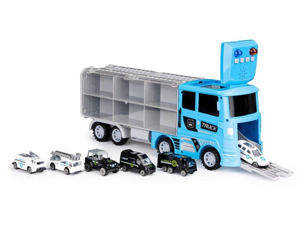 Ecotoys policejni kamion se 6 auticky
