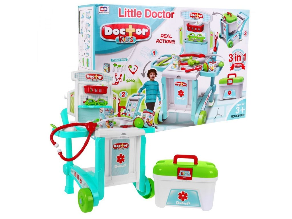 Lekarsky vozik 3v1 Little Doctor