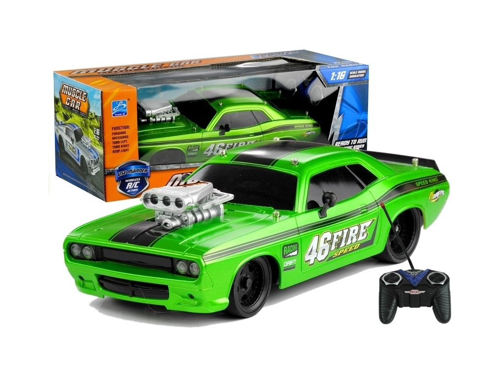 Auto na dalkove ovladani Muscle Car 1 16 zelene