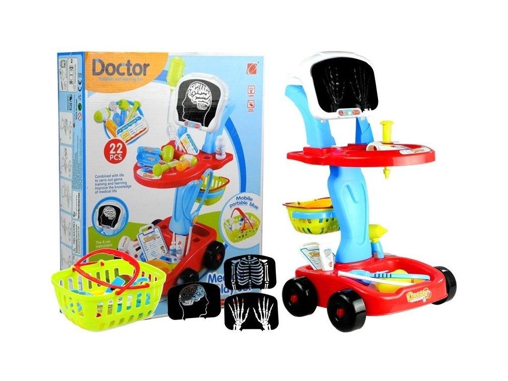 Majlo Toys lekarsky vozik EKG 22 soucasti