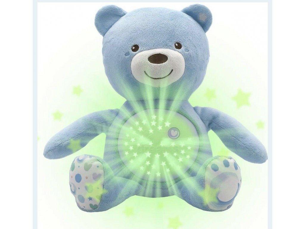 Chicco medvídek s projektorem modrý