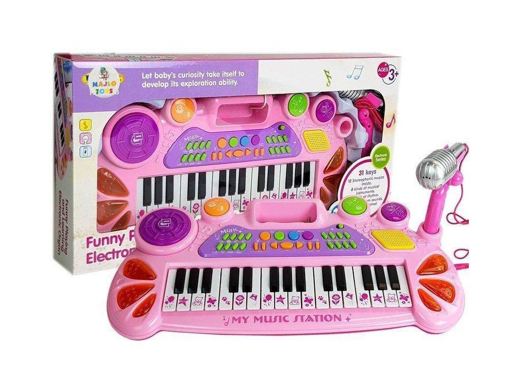 detske klavesy Funny Piano ruzove 4