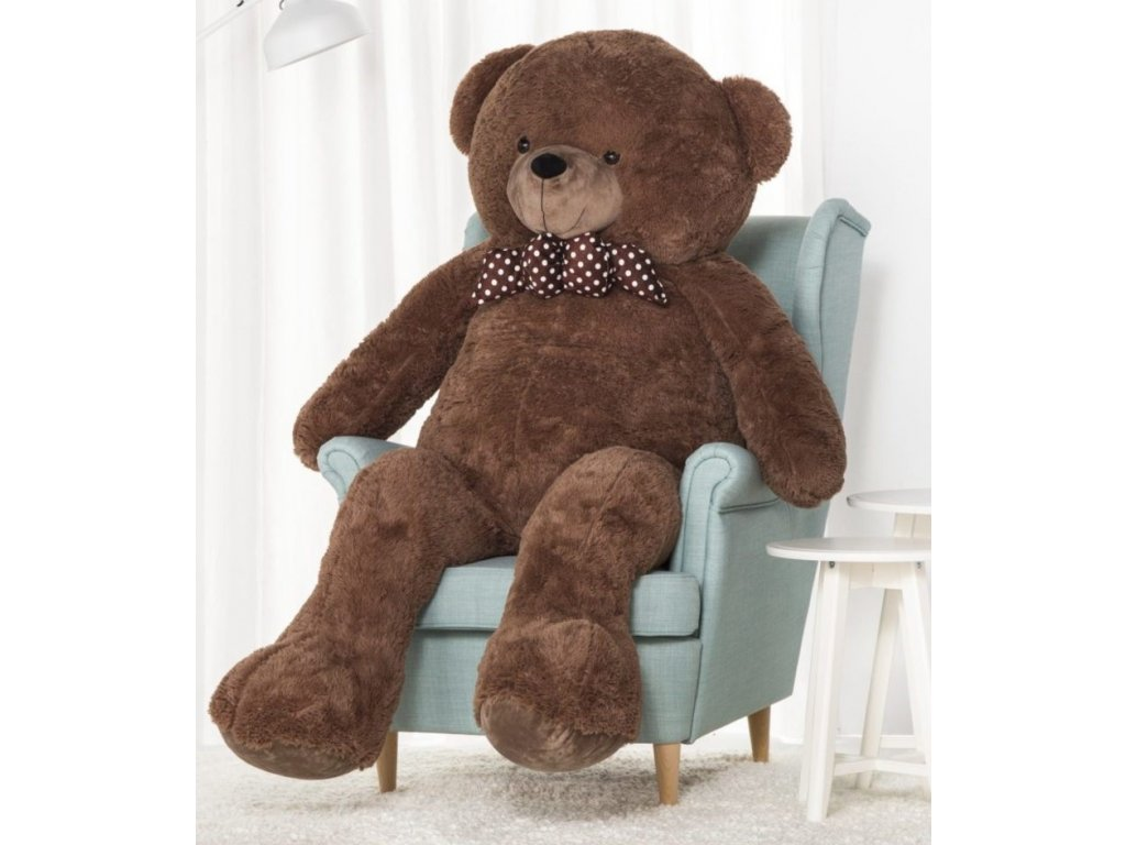 plysovy medved Hugo hnedy 170 cm