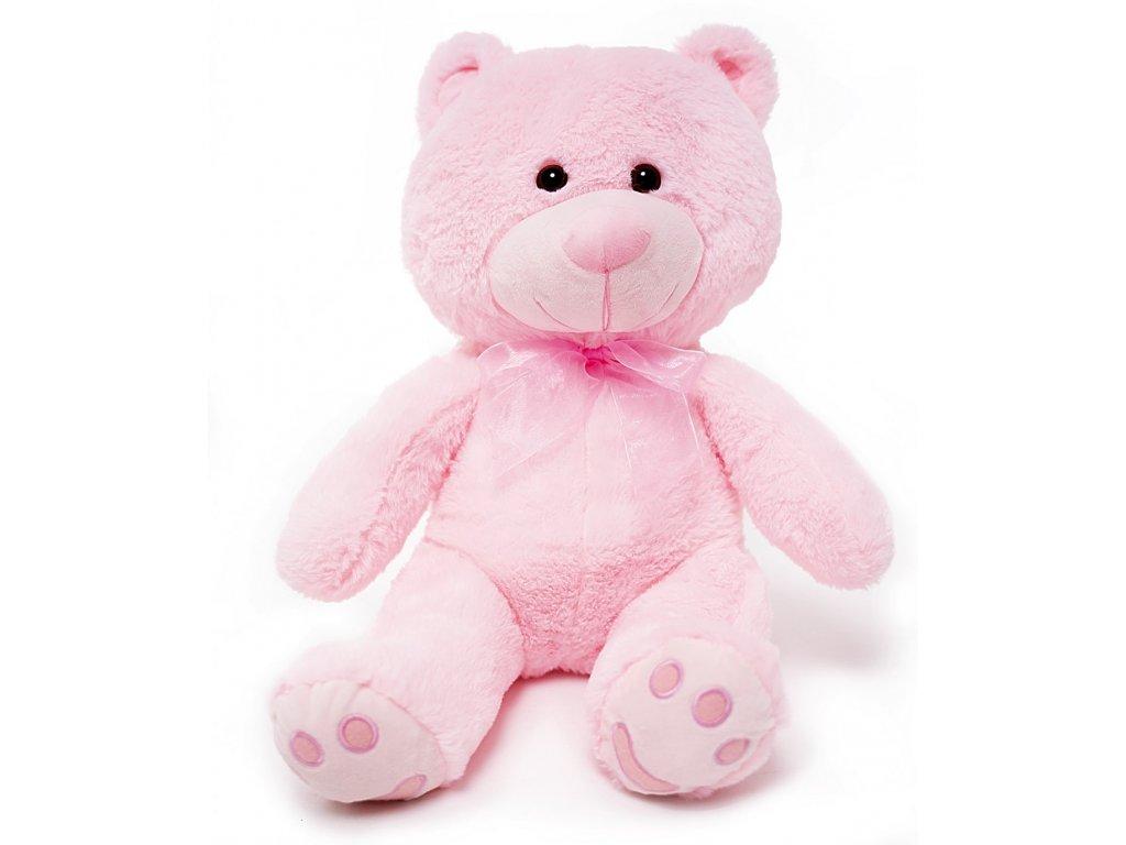 plysovy medvidek First Teddy ruzovy
