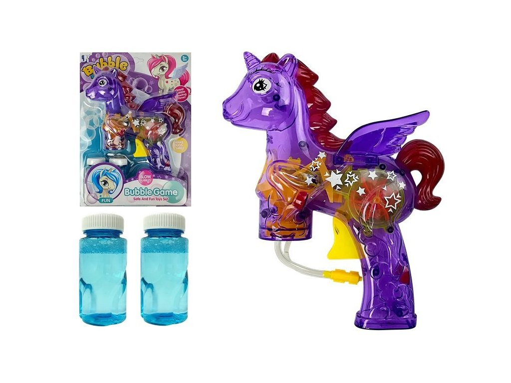 detsky bublifuk Unicorn fialovy