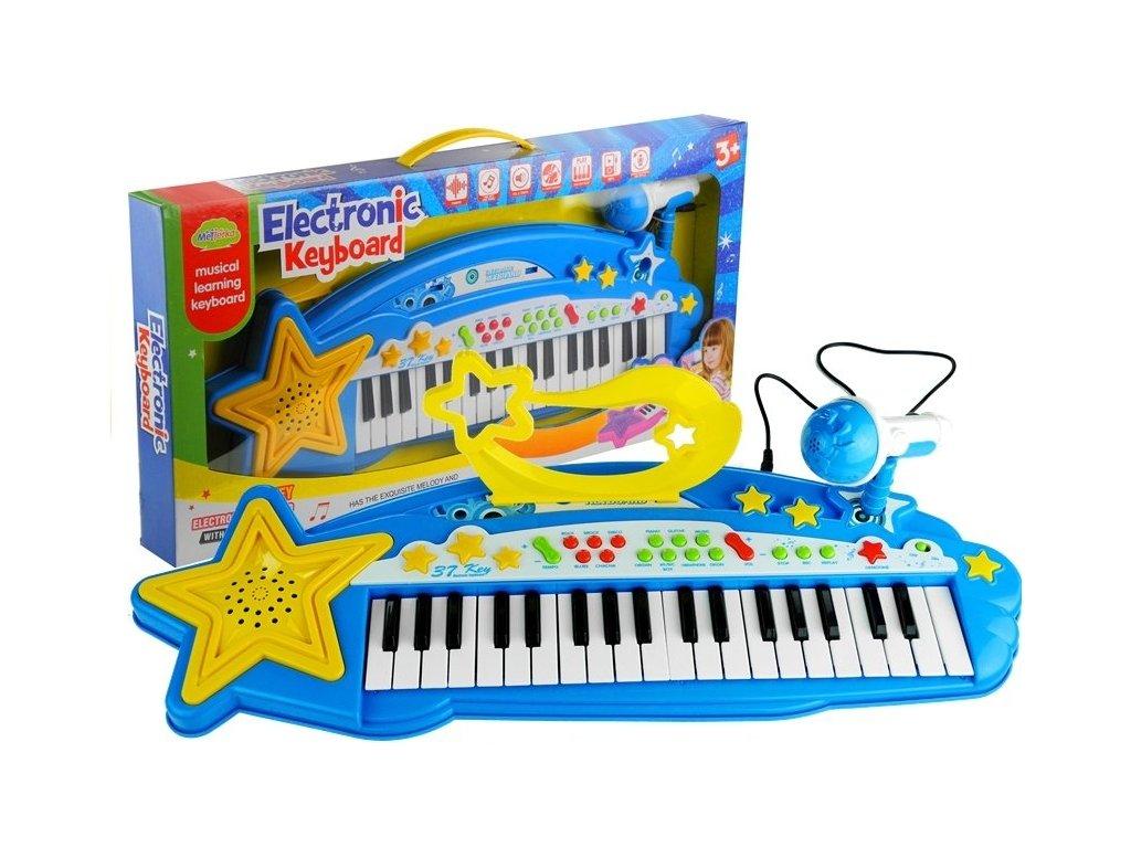 detske elektronicke klavesy Music station modre